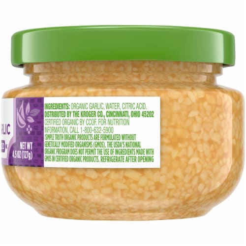 Simple Truth Organic™ Minced Garlic Jar Perspective: right