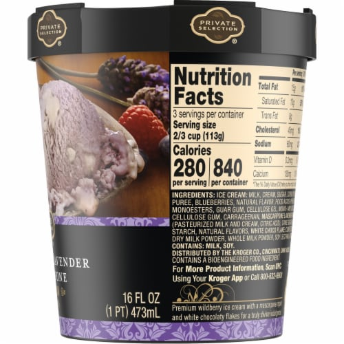 Private Selection® Wildberry Lavender Mascarpone Ice Cream Perspective: right