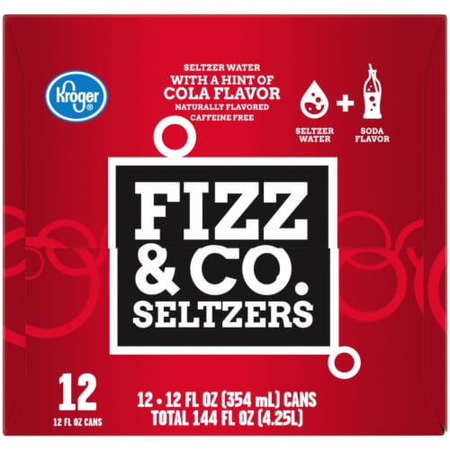 Kroger® Fizz & Co. Cola Flavored Seltzer Water Perspective: right
