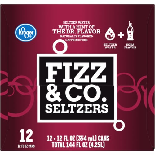 Kroger® Fizz & Co. The Dr. Flavored Seltzer Water Perspective: right
