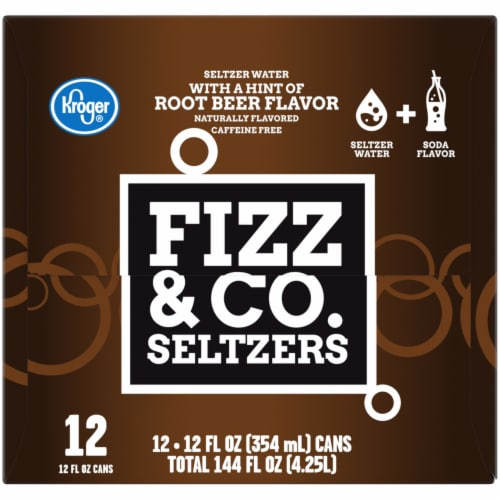 Kroger® Fizz & Co. Root Beer Flavored Seltzer Water Perspective: right