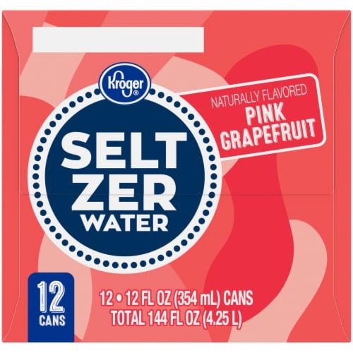 Kroger® Pink Grapefruit Seltzer Water Perspective: right
