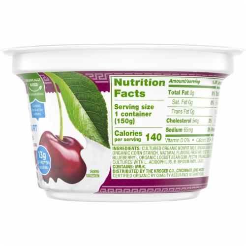 Simple Truth Organic® Strained Black Cherry Greek Nonfat Yogurt Perspective: right