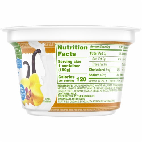 Simple Truth Organic™ Strained Vanilla Bean Greek Nonfat Yogurt Perspective: right