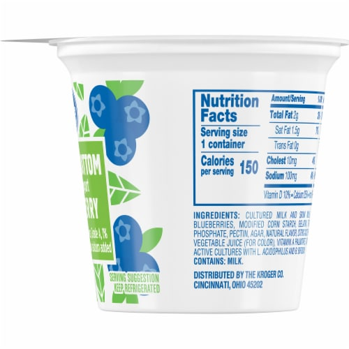 Kroger® Blueberry Fruit on the Bottom Lowfat Yogurt Perspective: right