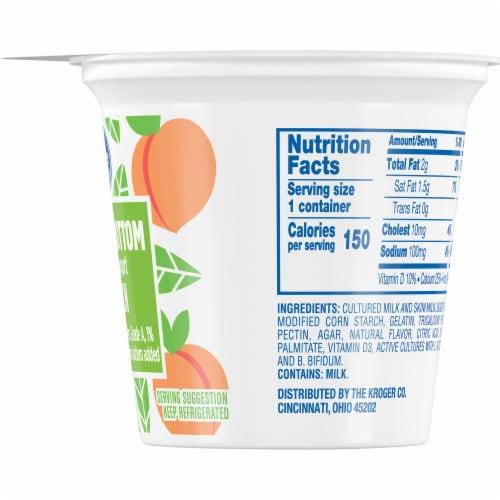 Kroger® Peach Fruit on the Bottom Lowfat Yogurt Perspective: right