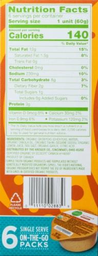 Simple Truth Organic™ Original Hummus 6-2.1 oz Packs Perspective: right