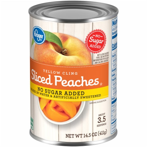 Kroger® Yellow Cling No Sugar Added Sliced Peaches Perspective: right