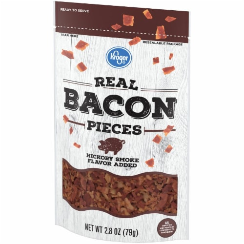 Kroger Hickory Smoke Flavored Real Bacon Pieces Perspective: right