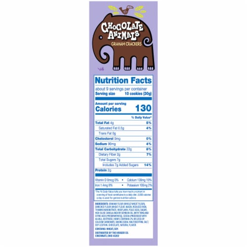 Kroger® Chocolate Animals Graham Crackers Perspective: right