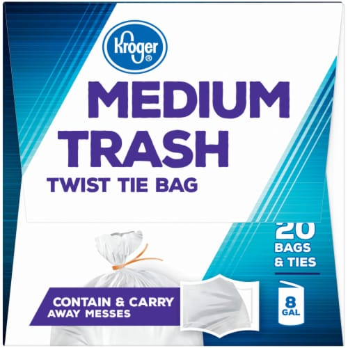 Kroger®  Medium 8 Gallon Twist Tie Trash Bags Perspective: right