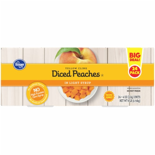 Kroger® Yellow Clean Diced Peaches in Light Syrup Fruit Cups Perspective: right