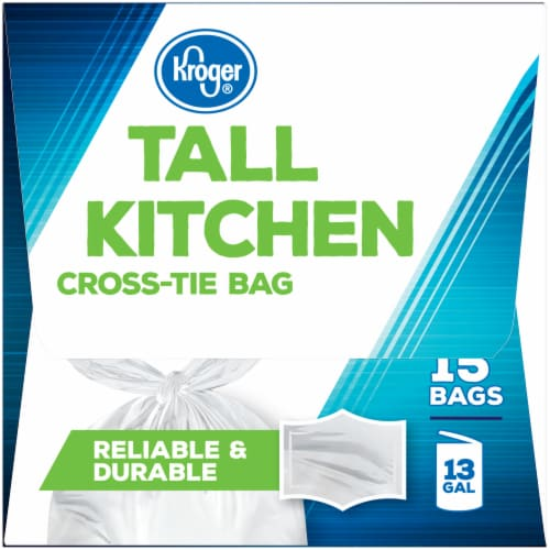 Kroger® Tall Kitchen Cross Tie Bags Perspective: right