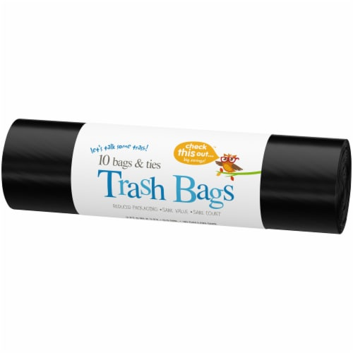 Check This Out™ 30-Gallon Black Trash Bags Perspective: right