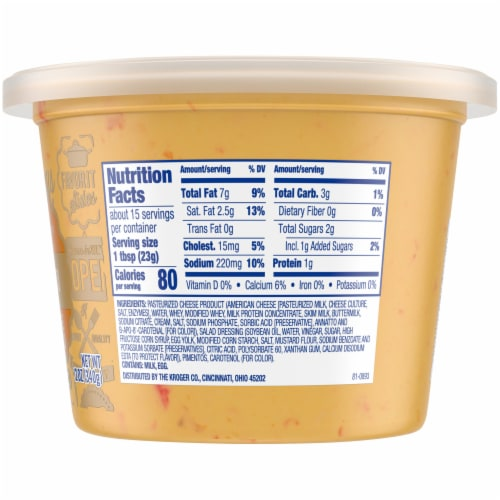 Kroger®  Pimento Cheese Spread Tub Perspective: right