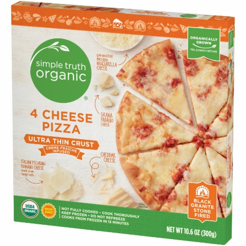 Simple Truth Organic® 4 Cheese Ultra-Thin Crust Pizza Perspective: right