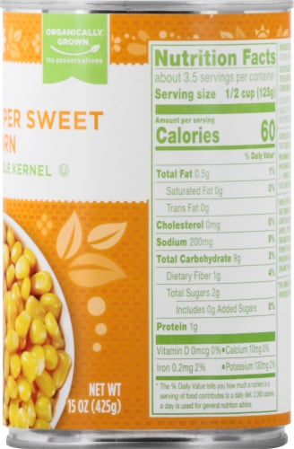 Simple Truth Organic® Super Sweet Whole Kernel Corn Perspective: right