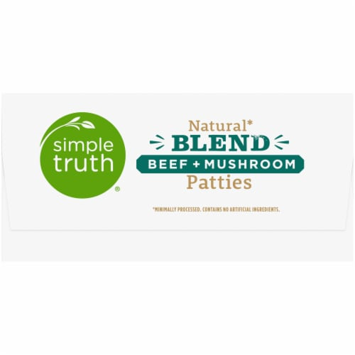 Simple Truth™ Natural Blend Beef + Mushroom Patties 6 Count Perspective: right