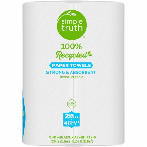 Simple Truth® 100% Recycled Paper Towels Perspective: right