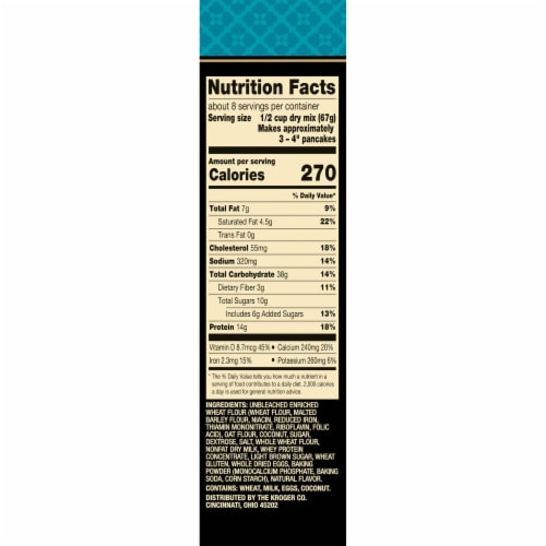 Private Selection® Toasted Coconut Protein Pancake Mix Perspective: right