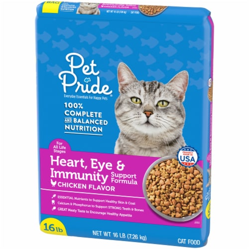 Pet Pride® Chicken Flavor Heart Eye & Immunity Support Formula Dry Cat Food Perspective: right