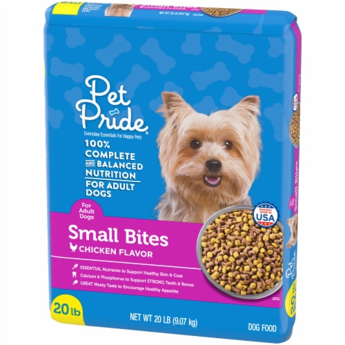 Pet Pride® Small Bites Chicken Flavor Adult Dog Food Perspective: right