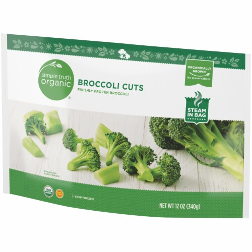 Simple Truth Organic® Freshly Frozen Broccoli Cuts Perspective: right