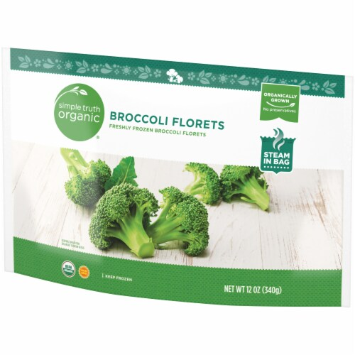 Simple Truth Organic® Freshly Frozen Broccoli Florets Perspective: right