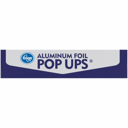 Kroger® Aluminum Foil Pop Ups Individual Sheets Box Perspective: right