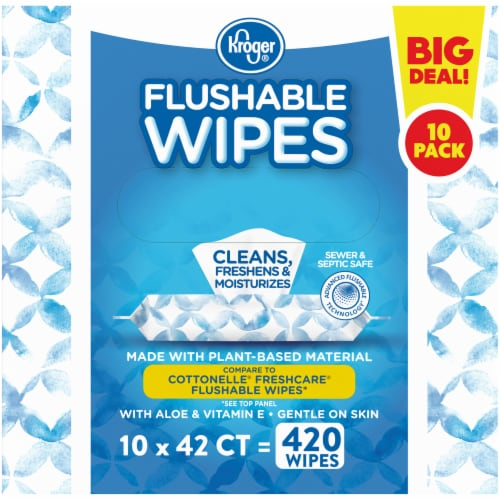 Kroger® Flushable Wipes Perspective: right