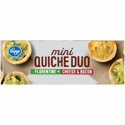 Kroger® Florentine Cheese & Bacon Mini Quiche Duo Perspective: right
