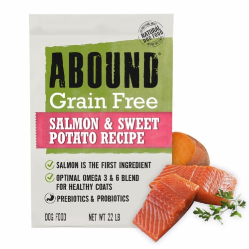Abound® Grain Free Salmon & Sweet Potato Recipe Adult Dog Food Perspective: right