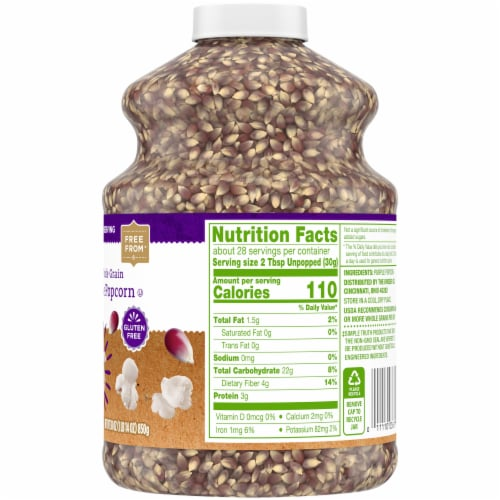 Simple Truth™ 100% Whole Grain Purple Popcorn Jar Perspective: right