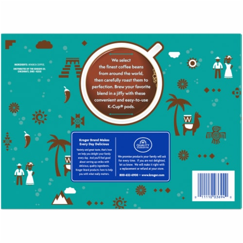 Kroger® 100% Colombian Single Serve Coffee Pods Box Perspective: right