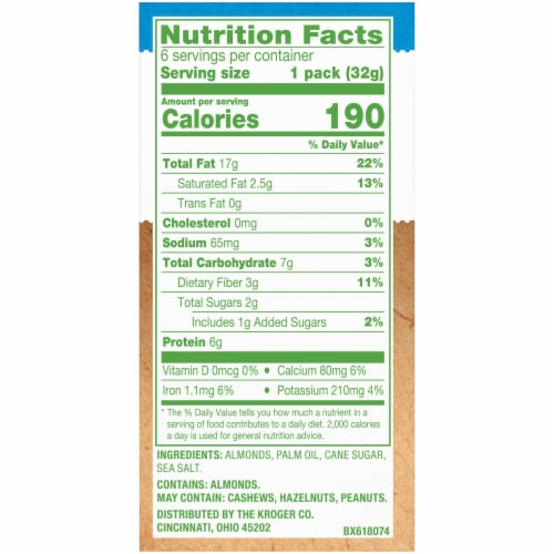 Simple Truth® No Stir Smooth Almond Butter Packs Perspective: right