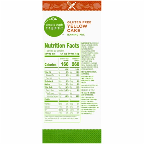 Simple Truth Organic™ Gluten Free Yellow Cake Baking Mix Perspective: right