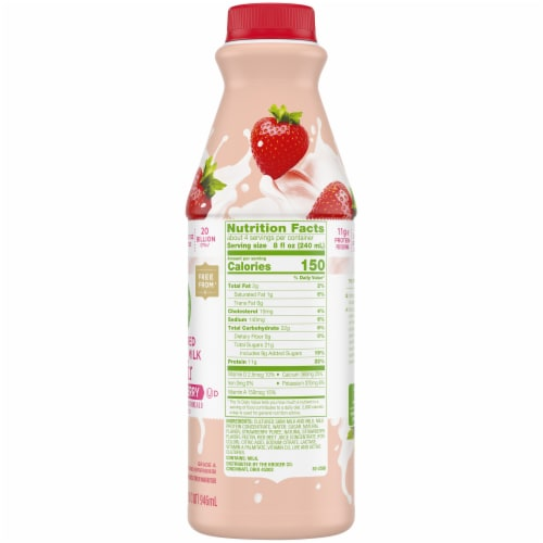 Simple Truth™ Strawberry Cultured Lowfat Milk Kefir Perspective: right