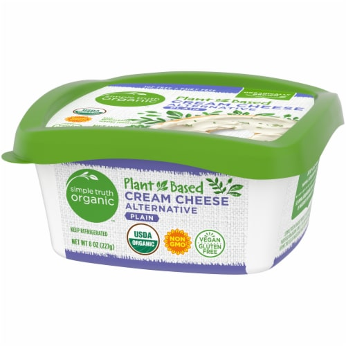 Simple Truth Organic™ Plant-Based Plain Cream Cheese Alternative Perspective: right