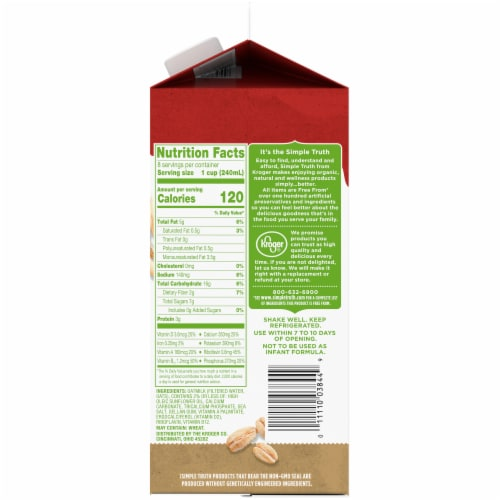 Simple Truth Original Oatmilk Non-Dairy Oat Beverage Perspective: right