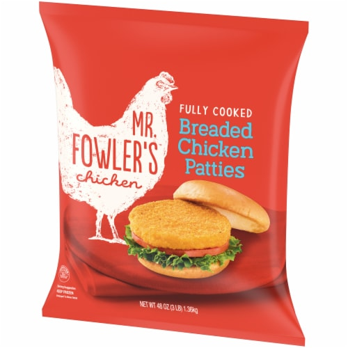 Mr. Fowler's™ Breaded Chicken Patties Perspective: right
