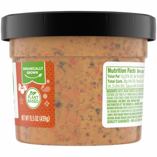 Simple Truth Organic® Creamy Lentil Soup Tub Perspective: right