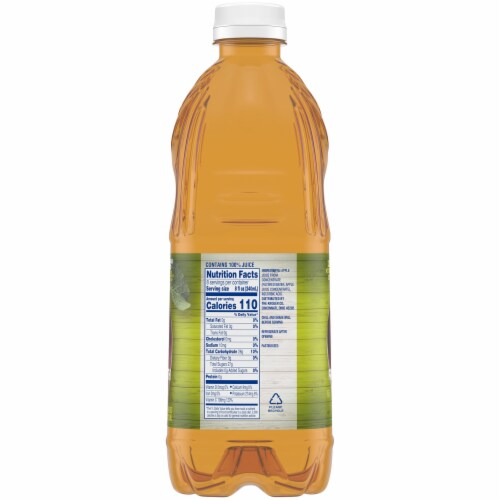 Kroger® 100% Apple Cider From Concentrate Juice No Sugar Added Bottle Perspective: right