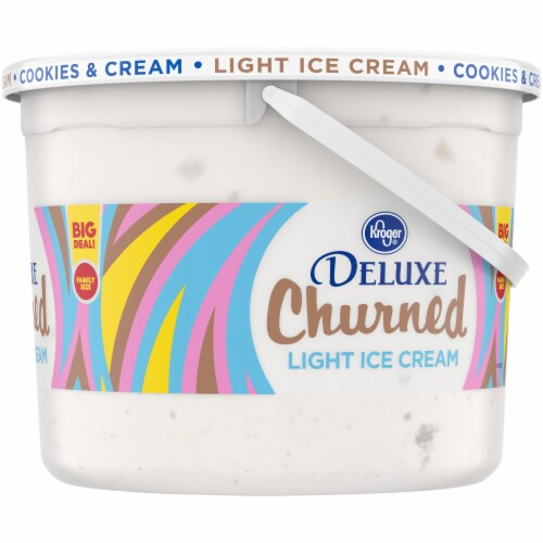 Kroger® Deluxe Churned Cookies & Cream Light Ice Cream Perspective: right