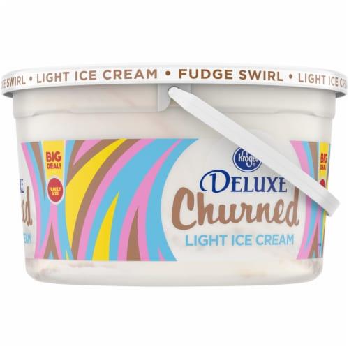 Kroger® Deluxe Churned Fudge Swirl Light Ice Cream Perspective: right