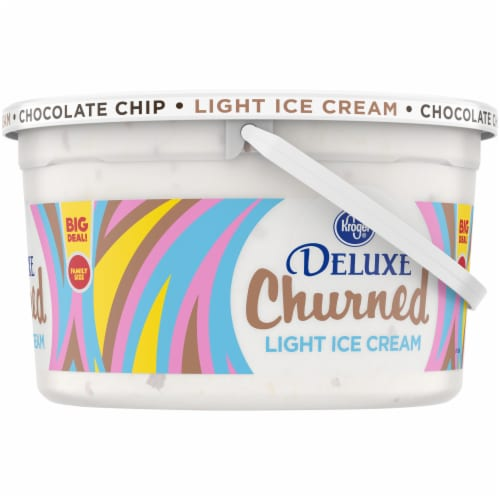 Kroger® Deluxe Churned Chocolate Chip Light Ice Cream Perspective: right