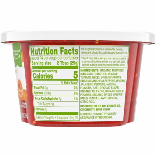 Simple Truth Organic™ Medium Restaurant Style Salsa Tub Perspective: right
