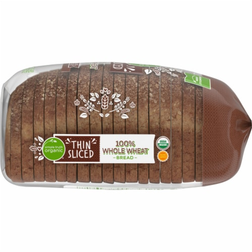 Simple Truth Organic® 100% Whole Wheat Thin Sliced Bread Perspective: right