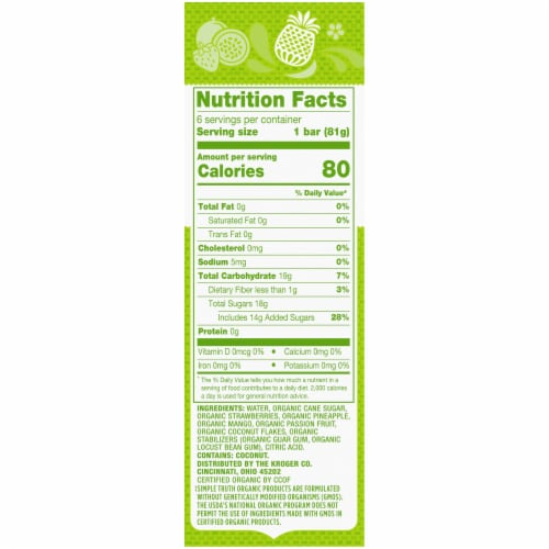 Simple Truth Organic™ Paletas Caribbean Style Mix Frozen Fruit Bars Perspective: right