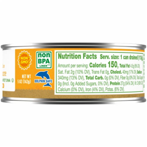 Simple Truth™ Pole & Line Albacore White Tuna in Salted Water Perspective: right
