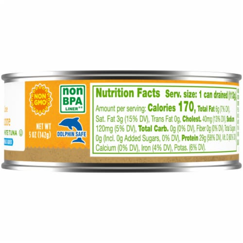 Simple Truth™ Pole & Line No Salt Added Albacore White Tuna in Water Perspective: right